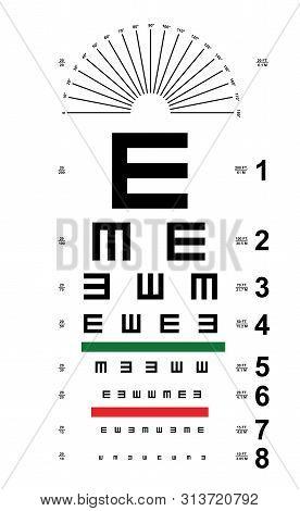 Tumbling E  Eye Chart Snellen E  Eye Chart Vector