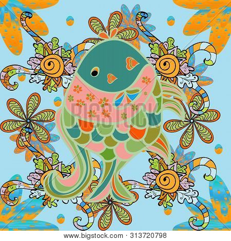 Elegant Modern Style, Yellow, Neutral And Green Background. Raster. Abstract Template. Raster. Cute