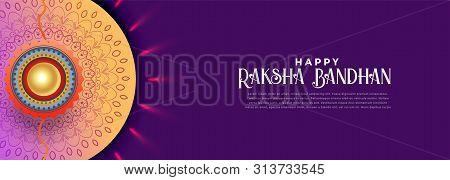 Happy Rakshabandhan Celebration Banner Design Vector Illustration