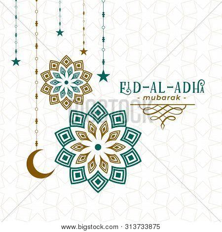 Arabic Pattern Style Eid Al Adha Festival Background