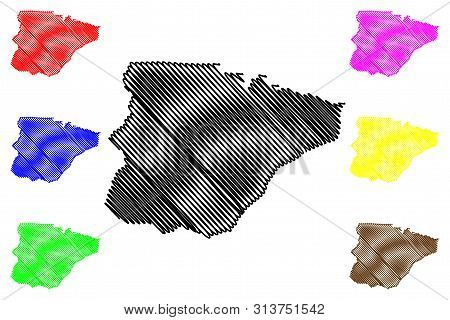 Southern Province (provinces Of Zambia, Republic Of Zambia) Map Vector Illustration, Scribble Sketch