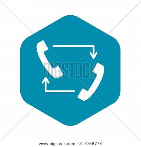 Handsets With Arrows Icon. Simple Illustration Of Handsets With Arrows Vector Icon For Web