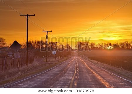 Back Country Road Sunrise