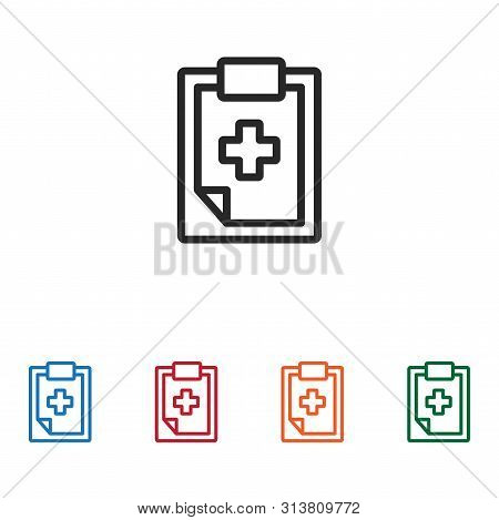 Medical History Icon Isolated On White Background. Medical History Icon In Trendy Design Style. Medi
