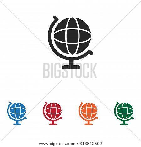 Globe Icon Isolated On White Background. Globe Icon In Trendy Design Style. Globe Vector Icon Modern