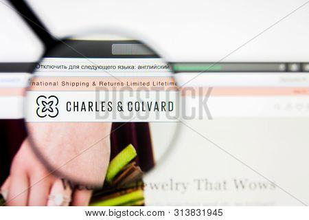 Richmond, Virginia, Usa - 27 July 2019: Illustrative Editorial Of Charles And Colvard Ltd Website Ho