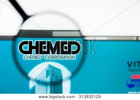 Richmond, Virginia, Usa - 27 July 2019: Illustrative Editorial Of Chemed Corp Website Homepage. Chem