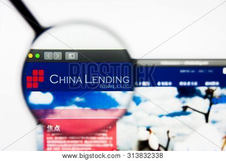 Richmond, Virginia, Usa - 27 July 2019: Illustrative Editorial Of China Lending Corporation Website