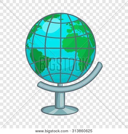 Terrestrial Globe Icon. Cartoon Illustration Of Terrestrial Globe Icon For Web