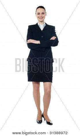 Full Length Of Beautiful Businesswoman