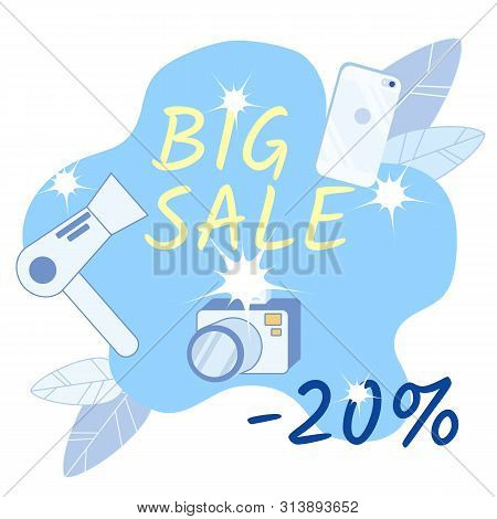 Electronics Sale Social Media Banner Template. Domestic Appliances, Consumer Durables Advertising Po