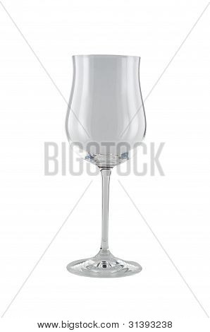 Isolated Wine Glass Clear.