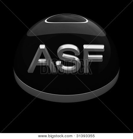 3D Style file format icon over black background - ASF poster