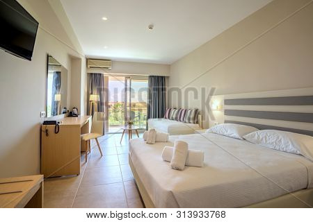 A Luxury modern hotel room