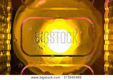 Colorful Abstract Background. Water Drops On Glass. Amazing Abstract Water Drops On Glass Texture Or