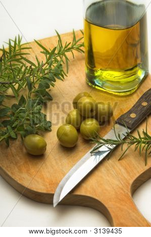 Kitchen Herbs And Oil