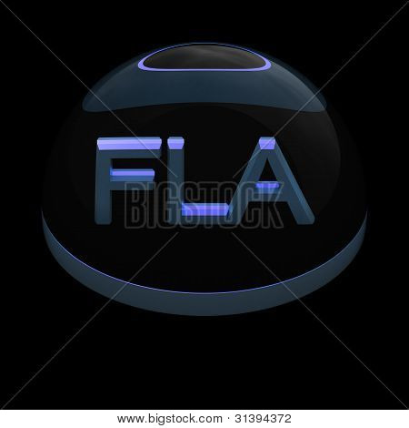 3D Style file format icon - FLA