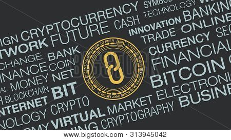 Word Cloud About Cryptocurrency And Blockchain Concept