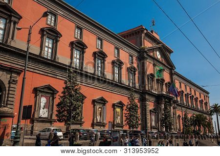 Naples, Italy - April, 2018: The National Archaeological Museum Of Naples
