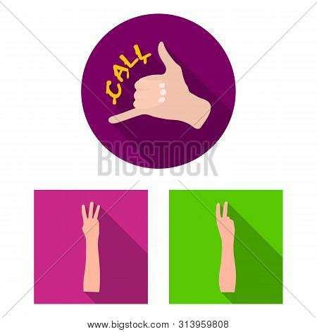 Bitmap Illustration Of Animated And Thumb Sign. Set Of Animated And Gesture Stock Symbol For Web.