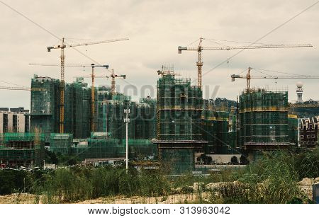Construction Sites In Nanning, China