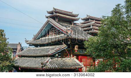 Nanning, China - Nov 2, 2015. Ancient Palace In Nanning, China. Nanning Is A City In Southern China