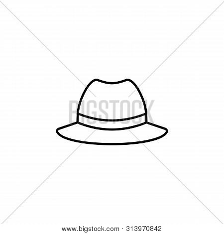 Hats Gangster Hat Line Icon. Element Of Hats Icon