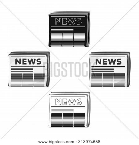 Newspaper.mail And Postman Single Icon In Cartoon Style Bitmap Symbol Stock Illustration Web.