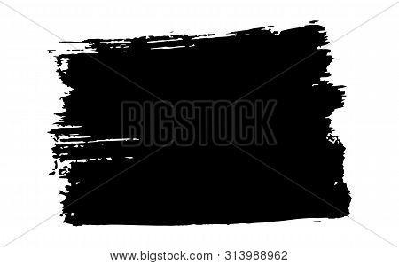 Hand-drawn Stiff Brush Black Abstract Background. Black Abstract Grunge Brush Background. Black Brus