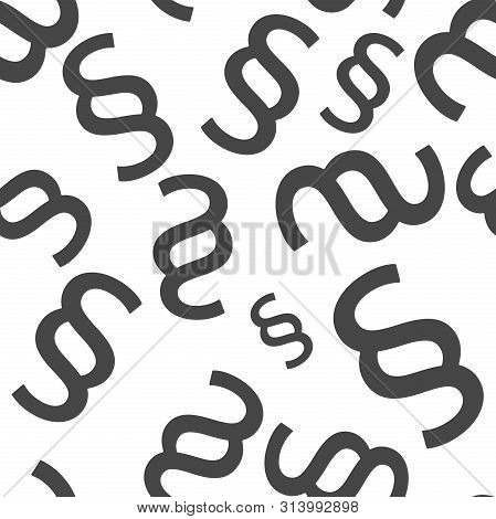 Vector Image Of A Paragraph. Vector Illustration Paragraph Seamless Pattern On A White Background.
