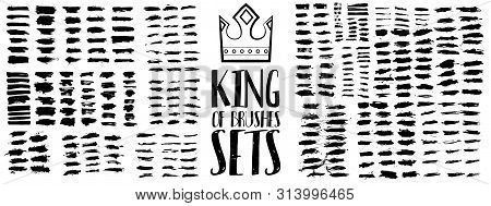King Of Brush Sets. High Quality Grunge Brush Strokes. Exclusive Work With A Large Number Of Creativ