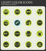 Emotions and glances simply vector icons for web and user interface design poster