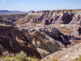 3.5 Mile Blue Mesa Drive In Petrified Forest National Park On Route 66 In Arizona