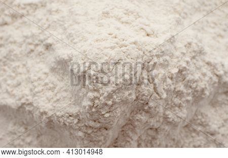 Wheat Flour. Flour Close-up Lm. Ingredient For Baking Bread And Rolls