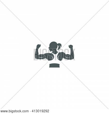 Muscle Arm Icon Logo Design Vector Illustration Template