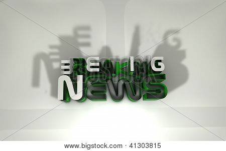 3d Breaking news logo