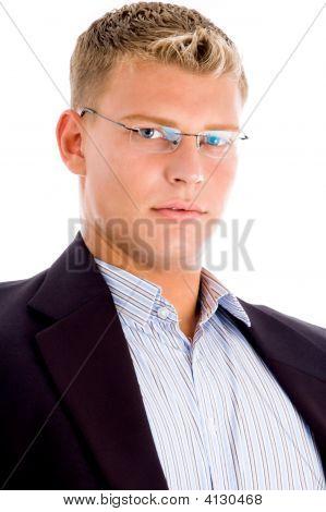 American Man Looking At Camera