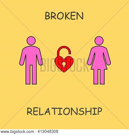 The Illustration Shows Two Gender Differences In A Relationship That Are Still Confused About The Re