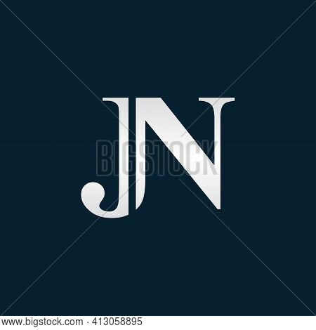 Alphabet Letters Initials Monogram Logo Jn Or Nj, J And N.illustration Vector