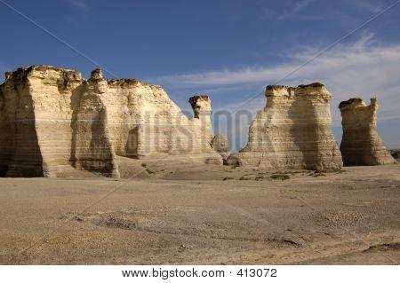 Kalkstein-Felsen