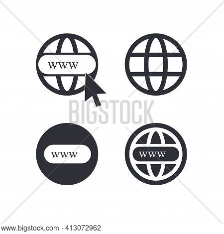 Internet - Vector Icons Set Www Vector Eps 10