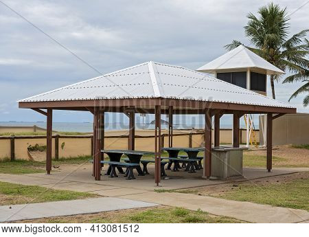 Beachfront Building For Picnics And Barbecues Located Beside Lifesavers Lookout