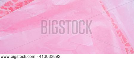 Pink Tissue Paper Flatlay Background, Luxury Branding Flat Lay And Brand Identity Design For Mockups