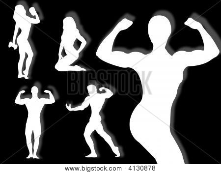 Body Builder Silhouette