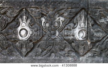 Stone Engraving In Pimai Castle