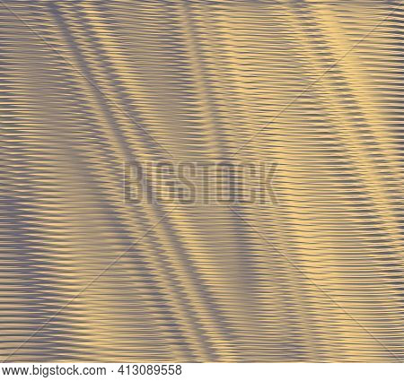 Monochrome Futuristic Abstract Texture With Wavy Lines And Moire Effect. Background Saver For Interi