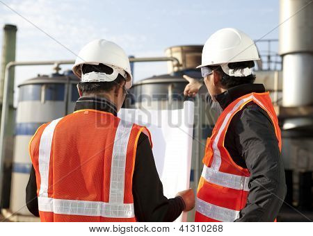 Two Engineer Oil Industry