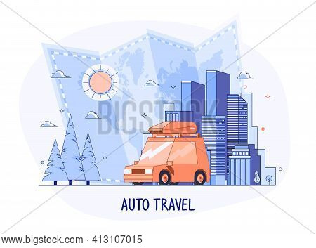 Planning Summer Vacations And World Travel Concept. Summer Holiday, Tourism And Vacation Theme. Fami