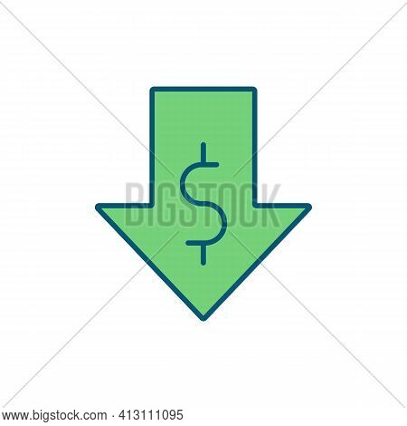 Low Income Rgb Color Icon. Poverty Risk. Earnings. Disposable Money Income. Low Pay. Payment Reducti