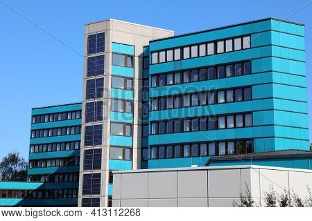 Marl, Germany - September 20, 2020: Tax Office (finanzamt) Of Marl, Germany. Marl Is An Important Fo